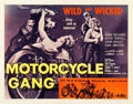 "Movie Posters:Exploitation, Motorcycle Gang (American International, 1957). Half Sheet (22"" X 28"").. ..."