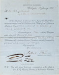 Autographs:U.S. Presidents, Millard Fillmore Document Signed....