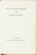 Books:Literature 1900-up, [Featured Lot] [Black Sun Press] [James Joyce]. Collected Poemsof James Joyce. New York: The Black Sun Press, 1936....