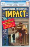 Golden Age (1938-1955):Horror, Impact #1 (EC, 1955) CGC NM- 9.2 Off-white to white pages....
