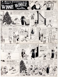 Original Comic Art:Comic Strip Art, Martin Branner Winnie Winkle Sunday Comic Strip Original Art dated 12-24-22 (Chicago Tribune, 1922)....