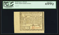 Colonial Notes:Rhode Island, Rhode Island July 2, 1780 $20 PCGS Gem New 65PPQ.. ...
