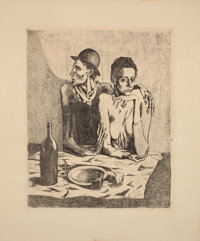 PABLO PICASSO (Spanish, 1881-1973) Le Repas Frugal (from La Suite des Saltimbanques), 1904