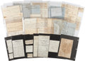 Miscellaneous:Ephemera, [Slavery]. Claybrooke Family Grouping of Receipts and Letters, ...