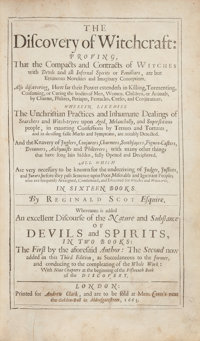 Reginald Scot [Scott]. The Discovery of Witchcraft: Proving, That the Compacts and Contracts