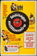 "Movie Posters:Rock and Roll, Teenage Millionaire (United Artists, 1961). One Sheet (27"" X 41""),Half Sheet (22"" X 28"") & Insert (14"" X 36""). Rock and Rol...(Total: 3 Items)"