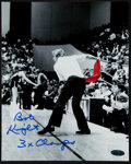 "Basketball Collectibles:Photos, Bobby Knight ""3x Champs"" Signed Photograph...."