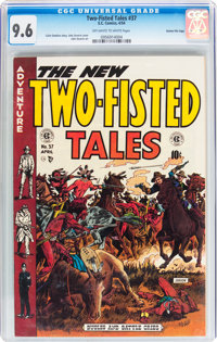 Two-Fisted Tales #37 Gaines File pedigree 8/12 (EC, 1954) CGC NM+ 9.6 Off-white to white pages