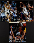 Basketball Collectibles:Photos, Tony Parker Signed Photographs Lot of 3....