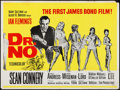 "Movie Posters:James Bond, Dr. No (United Artists, R-1970s). British Quad (30"" X 40""). JamesBond.. ..."