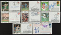 Baseball Collectibles:Others, Baseball Greats Signed Cachets Lot of 8....