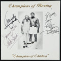 """Boxing Collectibles:Autographs, Muhammad Ali and Others Multi Signed """"Champions of Boxing"""" Program...."""