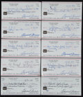 Miscellaneous Collectibles:General, Eddie Arcaro Signed Checks Lot of 10. ...