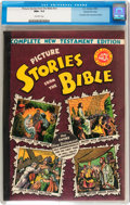 Golden Age (1938-1955):Religious, Picture Stories from the Bible Complete New Testament (40¢) GainesFile pedigree 4/12 (EC, 1946) CGC NM+ 9.6 Off-white pages....