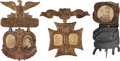 Political:Ferrotypes / Photo Badges (pre-1896), Benjamin Harrison: Three 1888 Campaign Badges....