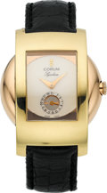 "Timepieces:Wristwatch, Corum Fine & Unusual ""Symbiose"" By R. Ventrella Two Tone Gold Automatic, circa 1990's. ..."