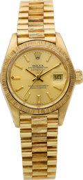Timepieces:Wristwatch, Rolex Ref. 6900 Lady's Gold Oyster Perpetual Datejust, circa 1980....