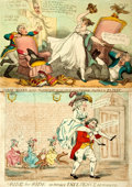 Books:Prints & Leaves, Pair of Original Hand-Colored Engravings. Various publishers, 1784,1821. Various sizes, largest measures approximately 10.5...