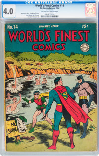 World's Finest Comics #14 (DC, 1944) CGC VG 4.0 Off-white to white pages