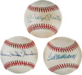 Baseball Collectibles:Balls, 1980's Mickey Mantle, Ted Williams & Duke Snider Single SignedBaseballs. ...