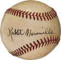 Autographs:Baseballs, Circa 1950 Rabbit Maranville Single Signed Baseball....