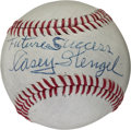 Autographs:Baseballs, 1960's Casey Stengel Single Signed Baseball....