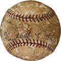 Autographs:Baseballs, Circa 1930 Babe Ruth, John McGraw & Connie Mack Multi SignedBaseball....