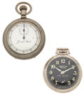 Timepieces:Other , Jerome Park Horse Stop Watch & Westclox Scotty Dollar Watch.... (Total: 2 Items)