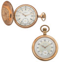 Timepieces:Pocket (post 1900), Two Elgin's Fancy Dial & Pocket Watches. ... (Total: 2 Items)