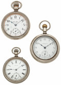 Timepieces:Pocket (post 1900), Three 18 Size Pocket Watches. ... (Total: 3 Items)