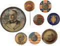 Political:Pinback Buttons (1896-present), William McKinley: Eight Campaign Badges....