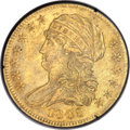 Early Half Eagles, 1808 $5 Wide 5D MS60 PCGS. BD-4, High R.3....