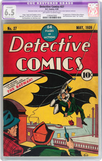 Detective Comics #27 (DC, 1939) CGC Apparent FN+ 6.5 Extensive (B-5) Off-white to white pages