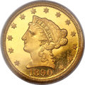 Proof Liberty Quarter Eagles, 1890 $2 1/2 PR65 PCGS. Gold CAC....