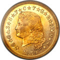 Proof Four Dollar Gold Pieces, 1879 $4 Flowing Hair, Judd-1635, Pollock-1833, R.3, PR64 PCGS. CAC....