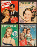 """Movie Posters:Miscellaneous, Photoplay & Others Lot (McFadden, 1949). Magazines (4) (Multiple Pages, 8.5"""" X 11""""). Miscellaneous.. ... (Total: 4 Items)"""