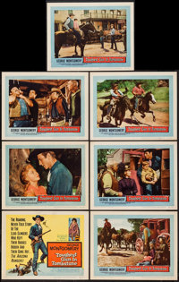 """The Toughest Gun in Tombstone (United Artists, 1958). Title Lobby Card & Lobby Cards (6) (11"""" X 14""""). West..."""