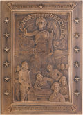 "Political:3D & Other Display (1896-present), Howard Chandler Christy: ""We the People"" Bronze Plaque...."