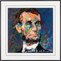 Political:Posters & Broadsides (1896-present), Abraham Lincoln: Signed Leroy Neiman Seriagraph....