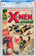 Silver Age (1956-1969):Superhero, X-Men #1 (Marvel, 1963) CGC GD 2.0 Cream to off-white pages....
