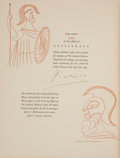 Books:Fine Press & Book Arts, [Pablo Picasso, illustrator]. Aristophanes. Lysistrata. Anew version by Gilbert Seldes. With a special introduction...