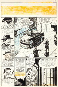 """George Tuska Crime Does Not Pay #133 """"The Murder Mad Gang of East City"""" Page 1 Original Art (Lev Gleason, 1954..."""