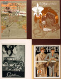 Books:Prints & Leaves, Group of Four Lithographic Prints. Various publishers and dates.Matted to various sizes, largest measuring approximately 21...