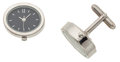 Timepieces:Other , Like New/Old Stock Pair Of Steel Watch Cufflinks. ...