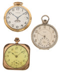 Timepieces:Pocket (post 1900), Three 12 Size Pocket Watches For Parts Or Repair. ... (Total: 3 Items)