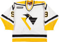 Hockey Collectibles:Uniforms, 1999-00 German Titov Pittsburgh Penguins Game Worn Jersey....
