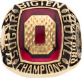 Football Collectibles:Others, 1998 Ohio State Buckeyes Big Ten Championship Football Player's Ring....