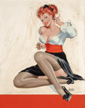 Pin-up and Glamour Art, PETER DRIBEN (American, 1902-1968). Let's Spice Things Up, Winkmagazine cover, March 1949. Oil on board. 33 x 25.75 in....