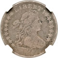 Early Dimes, 1797 10C 16 Stars, JR-1, R.4, VG8 NGC....