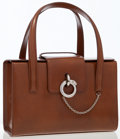Luxury Accessories:Bags, Cartier Brown Leather Tote Bag with Panthere Closure. ...